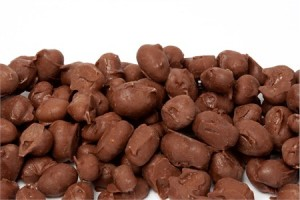 Don't get grossed out. This is really chocolate covered peanuts.